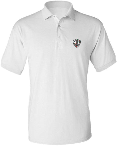 Just Daddy Polo with Italian Embroidery - White
