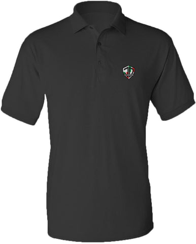Just Daddy Polo with Italian Embroidery - Charcoal