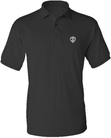 Just Daddy Polo with White Embroidery - Charcoal