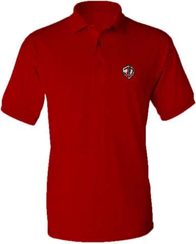 Just Daddy Polo with Italian Embroidery - Red