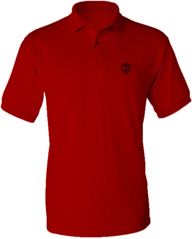 Just Daddy Polo with Black Embroidery - Red