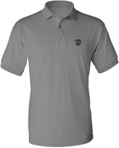Just Daddy Polo with Black Embroidery - Space Gray