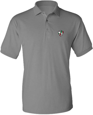 Just Daddy Polo with Italian Embroidery - Space Gray