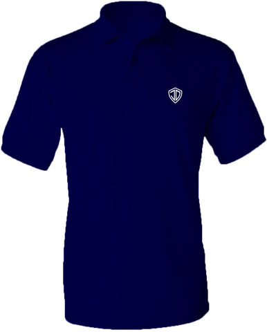 Just Daddy Polo with White Embroidery - Navy
