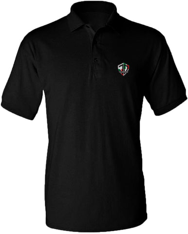 Just Daddy Polo with Italian Embroidery - Black