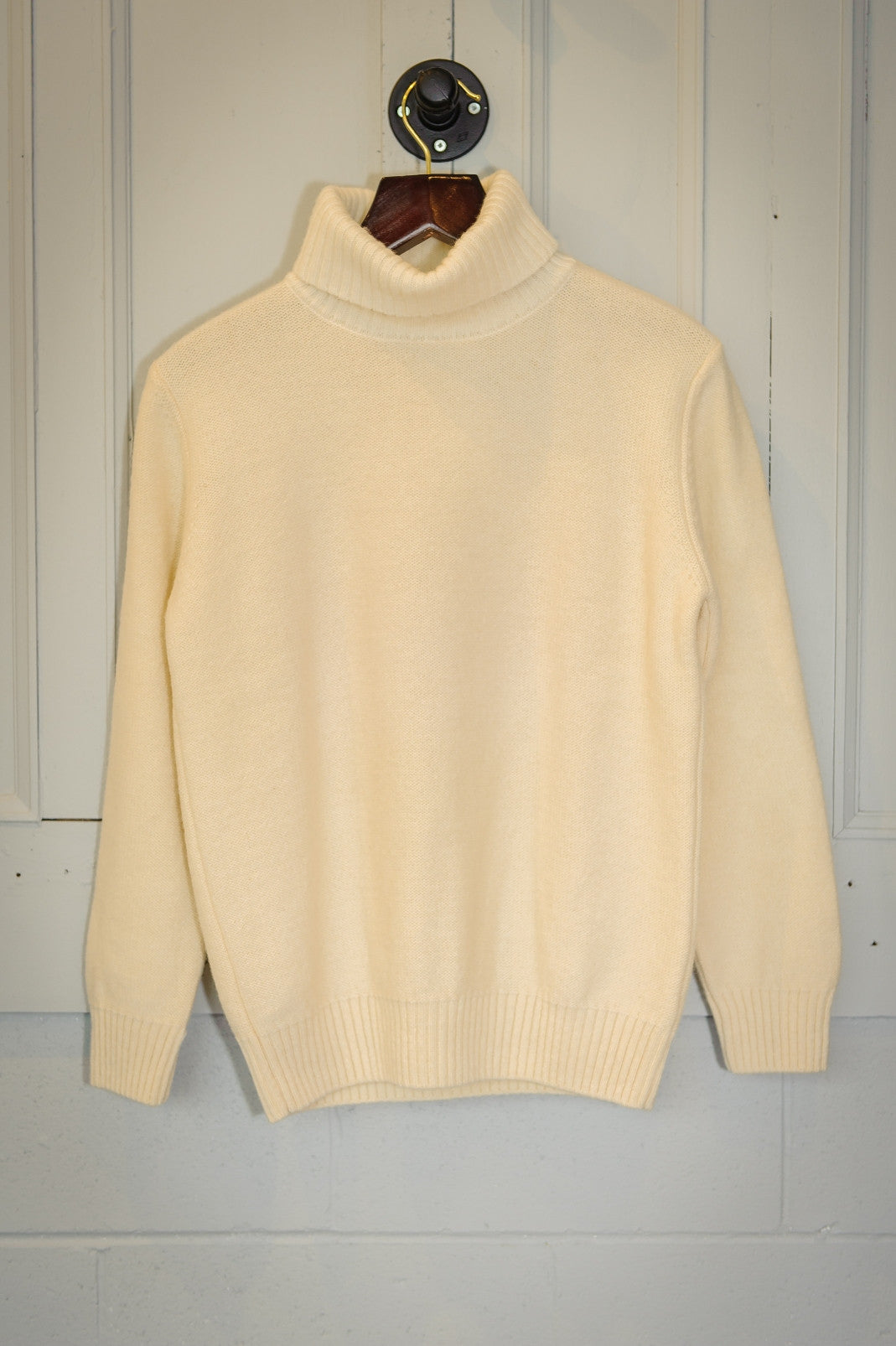 Torres Knitted Wool Turtleneck - Off White