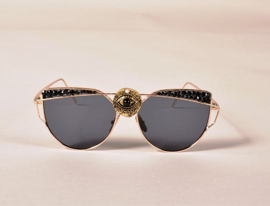 6d272d9611 Crystal Sunglasses- third eye- Spike sunglasses-Cute Fashion Sunglasses-Custom  Sunglasses Clean