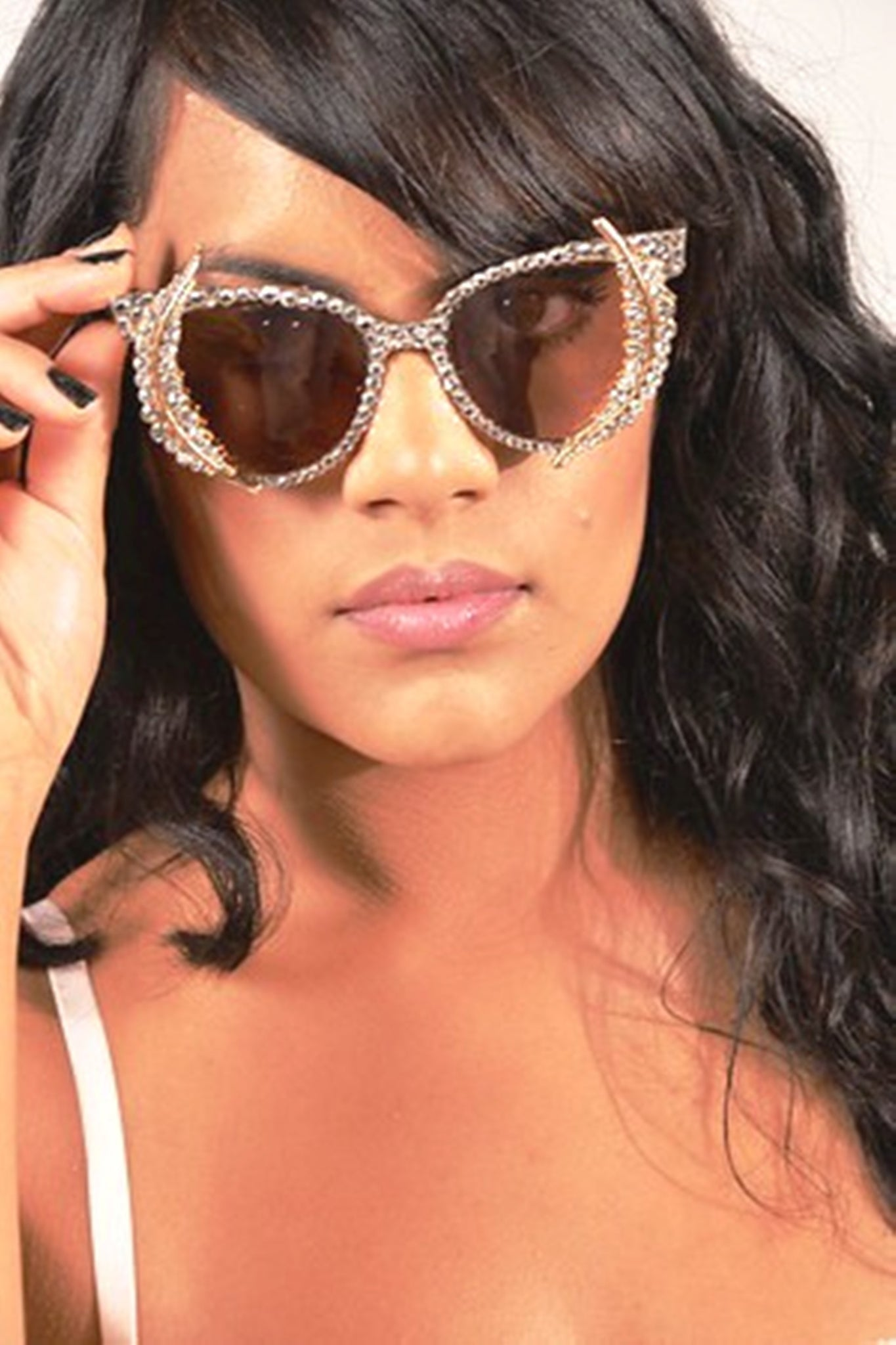 c742b2af54 Crystal Sunglasses- third eye- Spike sunglasses-Cute Fashion Sunglasse –  OMG! Fashion shades