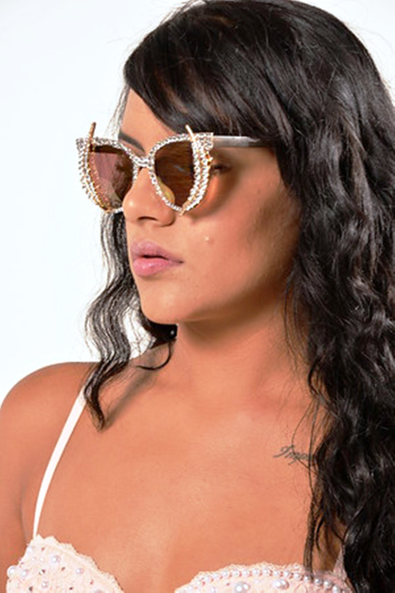 53ff7119b6 Crystal Sunglasses- third eye- Spike sunglasses-Cute Fashion Sunglasses-Custom  Sunglasses-