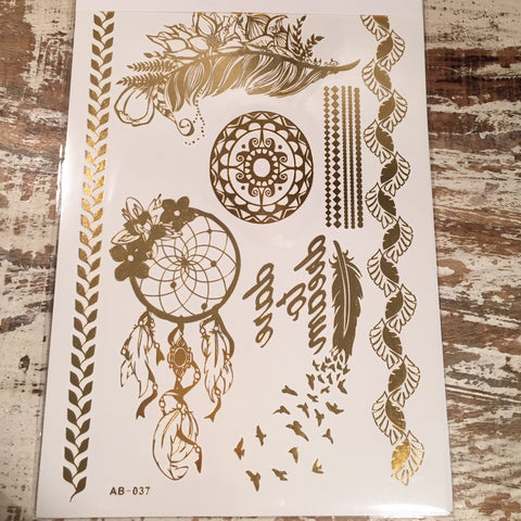 Dare to Dream Catcher Flash Tattoos