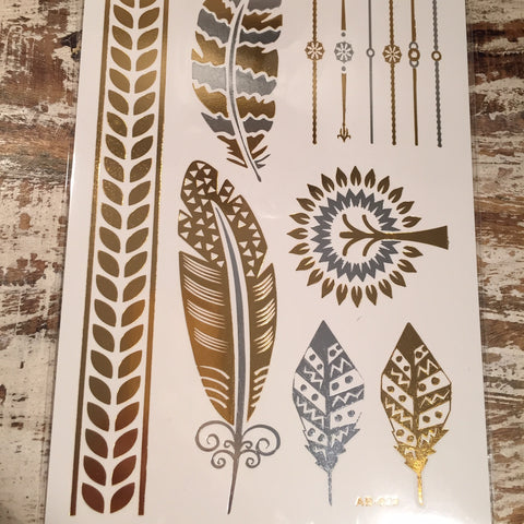 Big Feathers Peace Tree Flash Tattoos