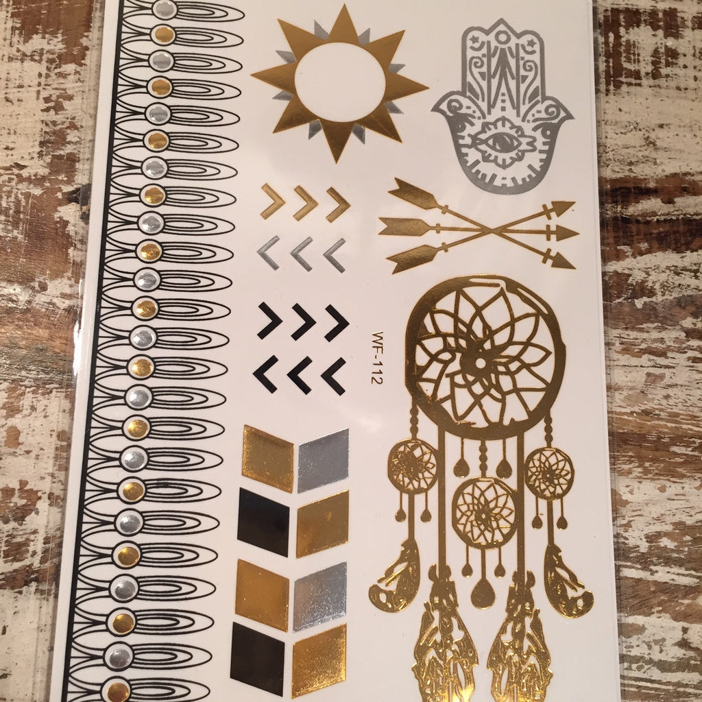 Dream Catcher/Hamsa Flash Tattoos