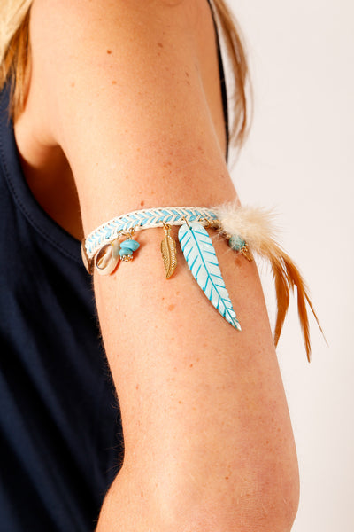 Ibiza Feather Armband/Anklet