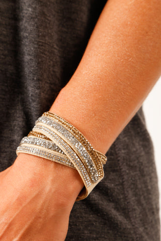 Ibiza Crystal Rock Bracelet Multi-Band