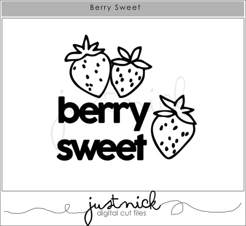 JustNick Studio, Cut Files, Berry Sweet