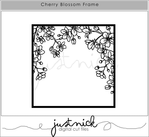 JustNick Studio, Cut Files, Cherry Blossom Frame