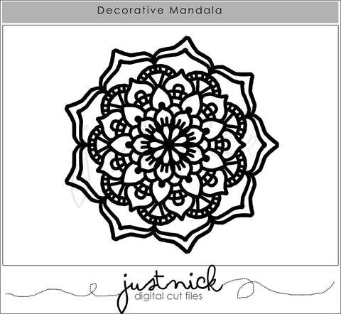 JustNick Studio, Cut Files, Decorative Mandala, Traveler's Notebook