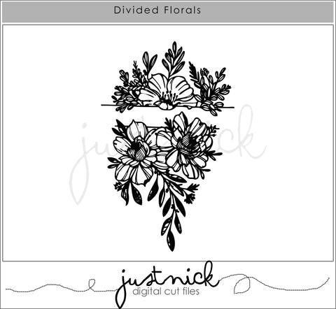 JustNick Studio, Cut Files, Divided Florals