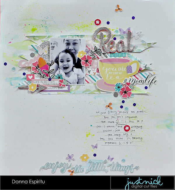 Donna Espiritu, Just Nick Studio, Creative Scrappers, layout01