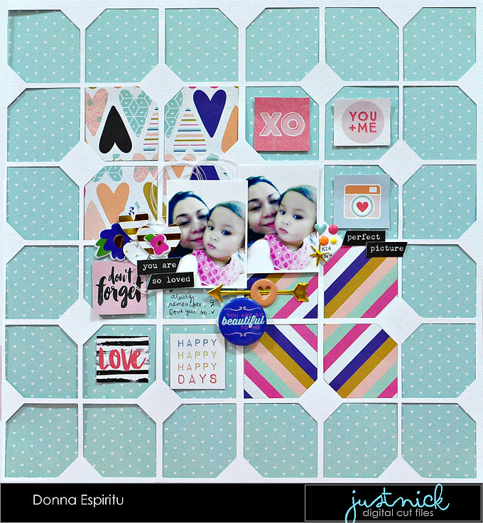 Donna Espiritu, Just Nick Studio, fancy Pants Designs Millie and June, layout
