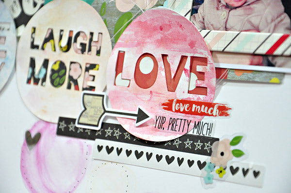 Donna Espiritu - Live Laugh Love -Just Nick - Simple Stories layout