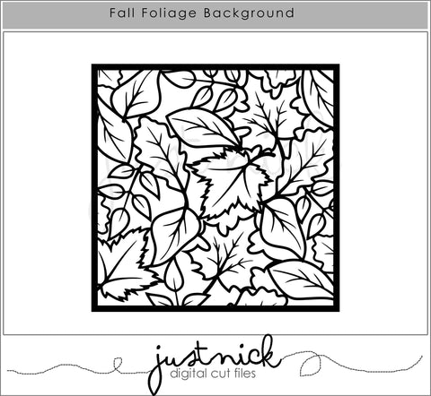 JustNick Studio Cut Files, Fall Cut File, I Like Fall, Travelers Notebook, Scrapbooking