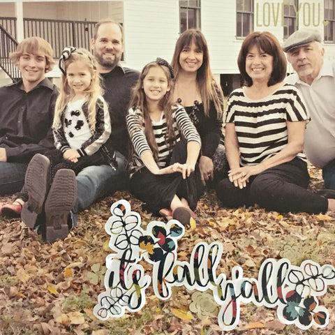 Happy Fall Y'all Scrapbooking Layout by Heather Leopard