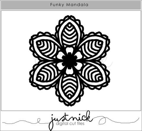 JustNick Studio, Cut Files, Funky Mandala