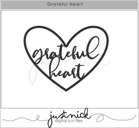 JustNick Studio, Grateful Heart, Cut Files