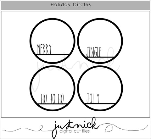 JustNick Studio, Cut Files, 12 Days of Giveaways, Holiday Circles