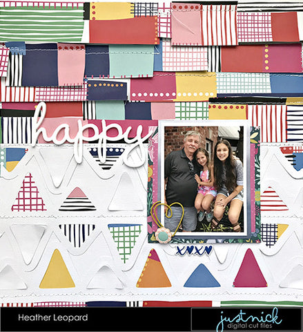 Scrapbooking layout by Heather Leopard @heatherleopard
