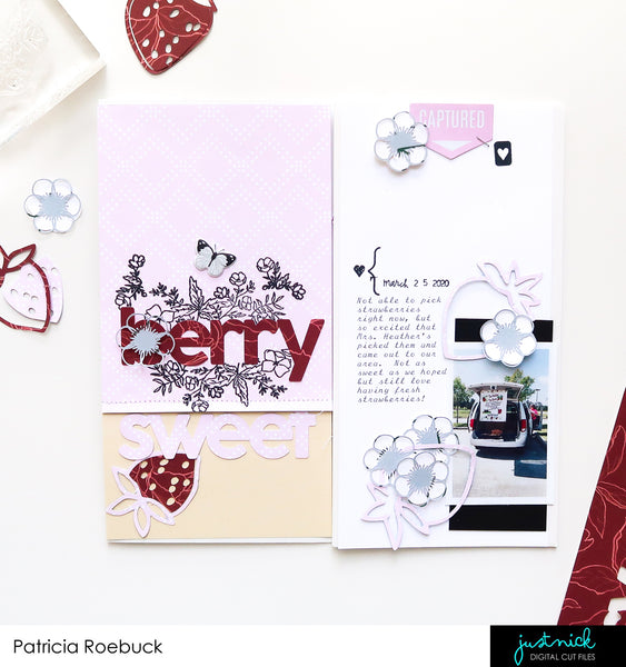 JustNick Studio, Cut Files, Traveler's Notebook, Berry Sweet, Flowers