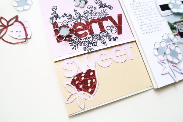 JustNick Studio, Cut Files, Traveler's Notebook, Berry Sweet, Flowers,