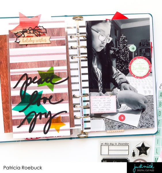 JustNick Studio, Peace Love Joy, Cut File, Patricia Roebuck, Traveler's Notebook
