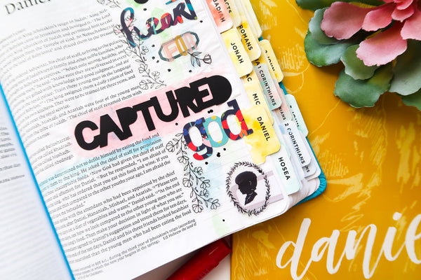 JustNick, JustNick Studio, JustNick Cut Files, Bible Journaling, Words, Mixed Media