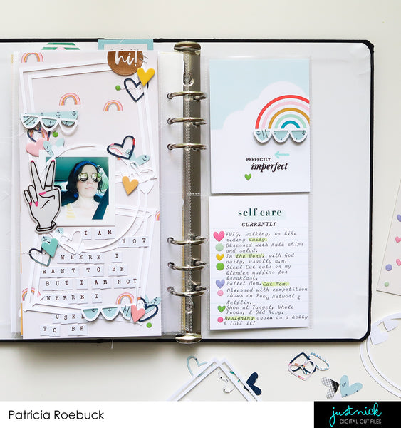 Traveler's Notebook, JustNick, Basic Hearts, Graphic Frames, Simple Scallops
