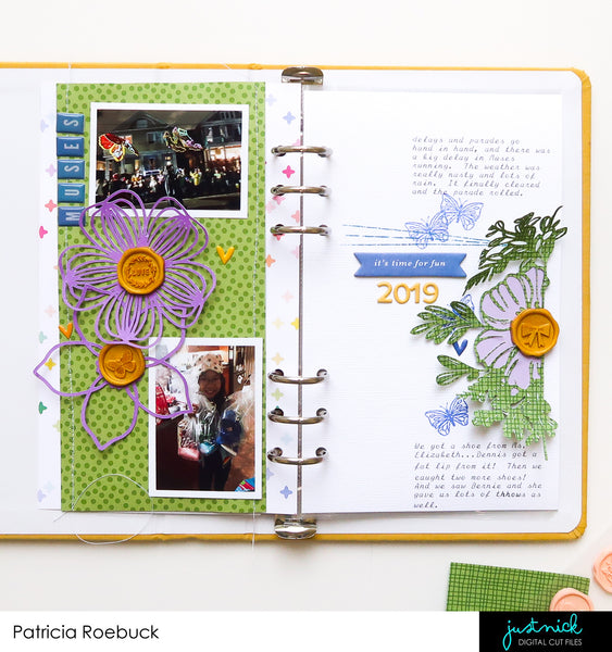 JustNick Studio, Cut Files, Traveler's Notebook, Divided Florals, Spring Florals