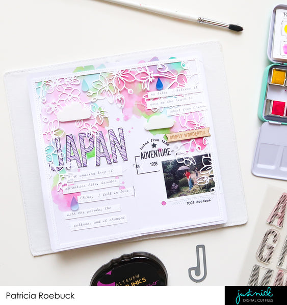JustNick Studio, Cut Files, Traveler's Notebook, Cherry Blossom Frame