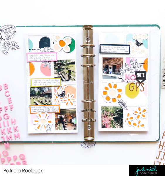 JustNick Studio, Cut Files, Traveler's Notebook, Spring Windowframe
