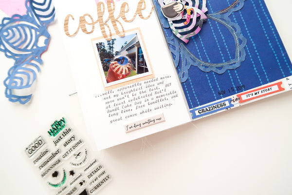 JustNick Studio, Cut Files, Funky Mandala, But First Coffee, Travelers Notebook