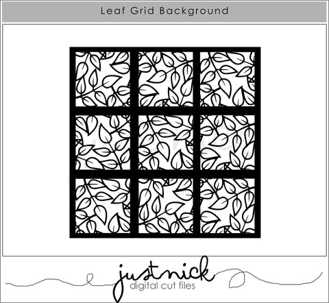 JustNick Studio, Leaf Grid Background, Cut Files