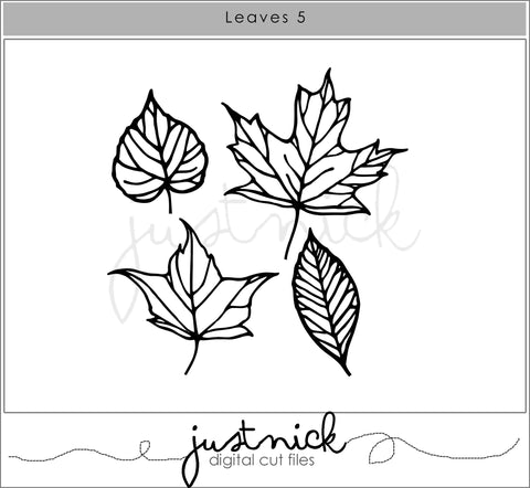 JustNick Studio, Cut Files, Leaves 5