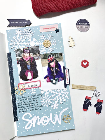 Snow Traveler's Notebook by Heather Leopard