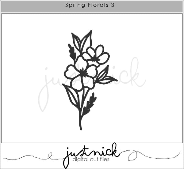 JustNick Studio, JustNick Cut Files, Cut Files, Spring Florals 2, Spring Florals 3, Through the Looking Glass, Patricia Roebuck