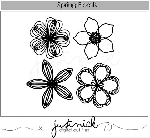 JustNick Studio, Cut Files, Spring Florals