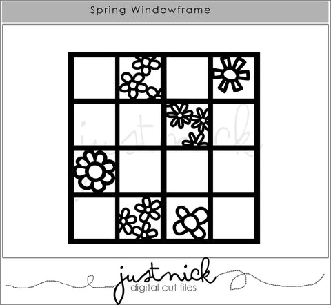 JustNick Studio, Cut Files, Spring Windowframe