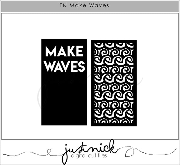 JustNick Studio, Cut Files, Traveler's Notebook, Make Waves