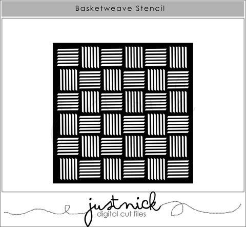 Basketweave Stencil