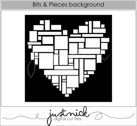 Bits and Pieces Heart Background