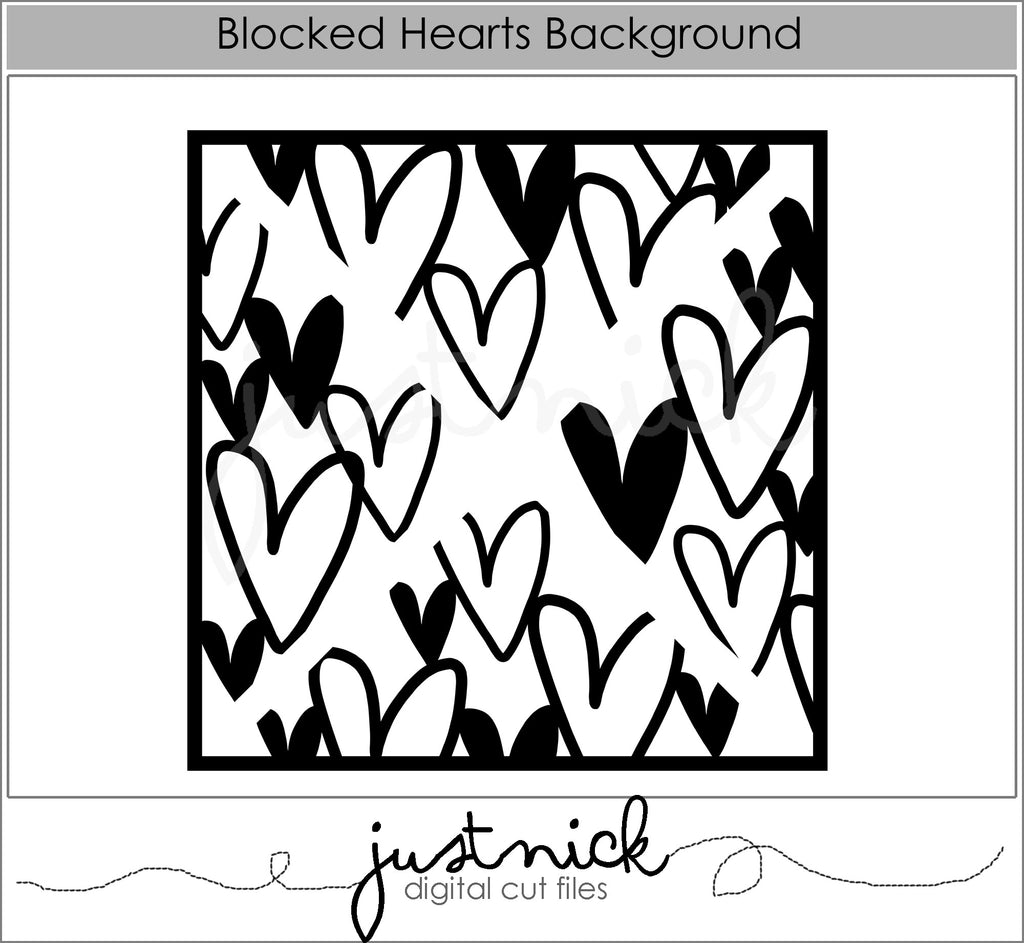 Blocked Hearts Background
